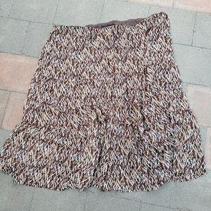 Lane Bryant 26/28 brown skirt (D)